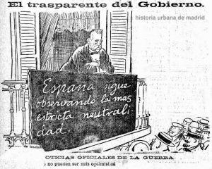 AGOSTO-1914-HUMOR-TOVAR-NEUTRALIDAD ESPAÑOLA-HERALDO DE MADRID 11.08.1914-HUM 2014